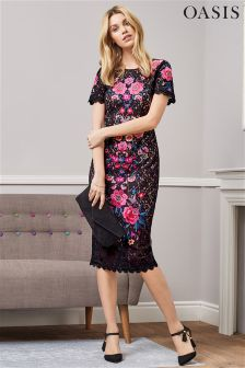 Oasis Embroidered Lace Dress
