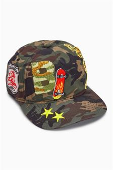 Camo Badge Cap (Older Boys)