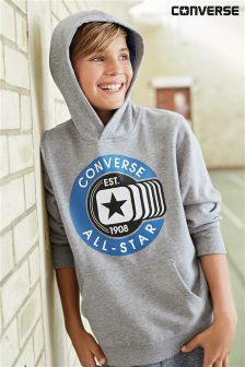 Converse Dark Grey Heather Graphic Pull Over Hoody