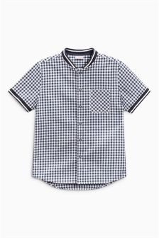 Short Sleeve Gingham Baseball Shirt (3-16yrs)