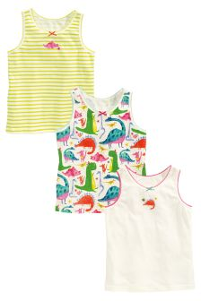 Dinosaur Vests Three Pack (1.5-12yrs)