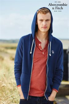 Abercrombie & Fitch Navy Zip Through Hoody