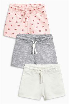 Pink Shorts Three Pack (3-16yrs)