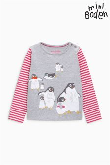 Boden Grey Arctic Animals T-Shirt