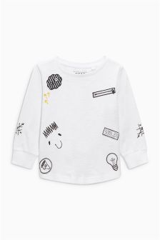 Long Sleeve Badge T-Shirt (3mths-6yrs)