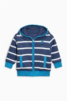 Stripe Reversible Zip Through Hoody (3mths-6yrs)