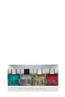 Set Of 4 Xmas Nail Polishes Set