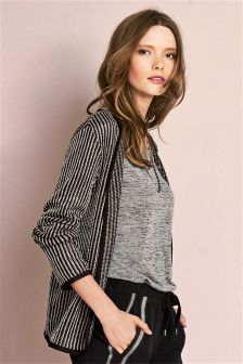 Metallic Stripe Jacket