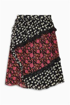 Mix Print Maxi Skirt (3-16yrs)
