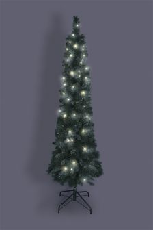 6FT 100 LED Pre Lit Slim Forest Pine Tree
