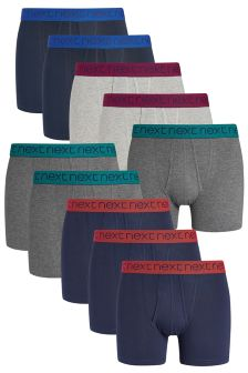 Bright Waistband A-Fronts Ten Pack