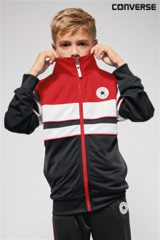 Converse Black/Red Colourblock Track Jacket