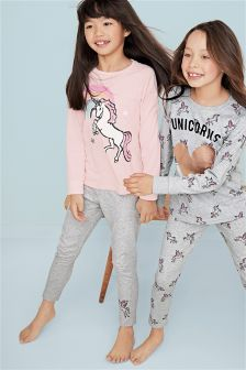 Unicorn Legging Pyjamas Two Pack (3-16yrs)