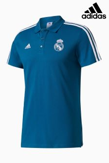 adidas Real Madrid 2017/18 3-Stripe Poloshirt