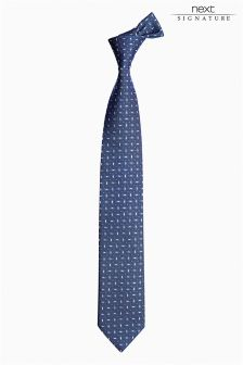 Signature Italian Oval Design Tie