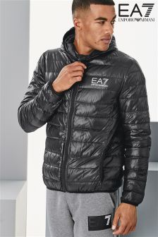 EA7 Emporio Armani Black Zip Through Hoody