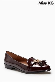 Miss KG Nadia Burgundy Tassel Loafer
