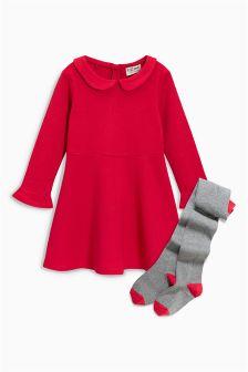Dress And Tights Set (3mths-6yrs)