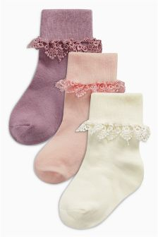 Trim Socks Three Pack (Younger Girls)