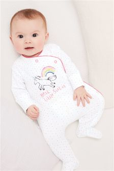 Unicorn Sister Sleepsuit (0-18mths)