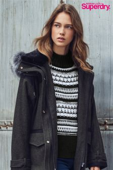 Superdry Black Nordic Pattern Knit