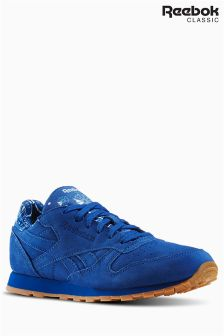 Reebok Blue CL Leather Trainer