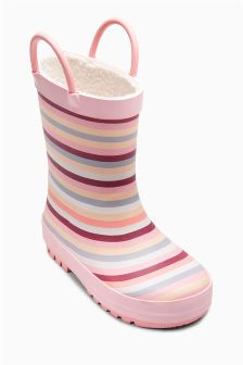 Stripe Wellies (Younger Girls)
