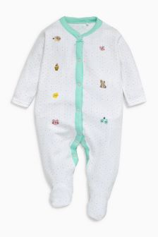 Character Velour Sleepsuit (0mths-3yrs)