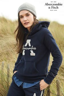 Abercrombie & Fitch Navy Overhead Hoody