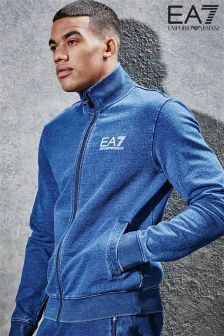 EA7 Emporio Armani Blue Sweat Top