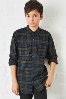 Jersey Lined Check Shirt (3-16yrs)