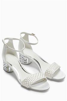 Jewel Heel Sandals