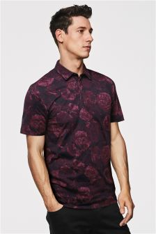 Floral Print Poloshirt
