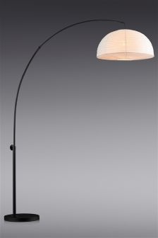 Curve Arm Black Floor Lamp