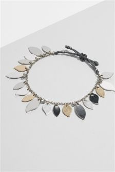 Leaf Detail Pully Bracelet