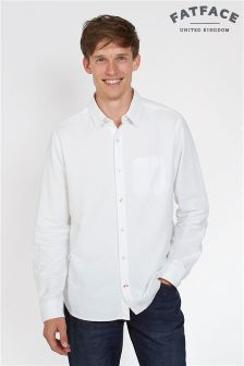 Fat Face White Oxford Plain Shirt