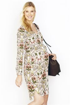 Maternity Printed Shirt Dress