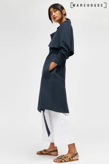 Warehouse Navy Duster Coat