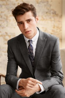 Windowpane Skinny Fit Suit