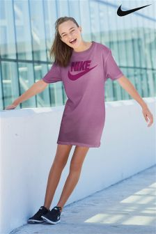 Nike Purple Sportswear Modern Dress