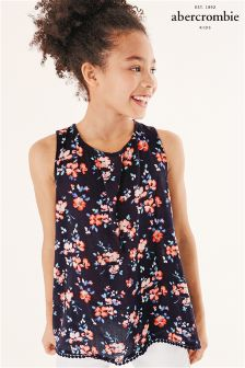 Abercrombie & Fitch Navy Floral Top