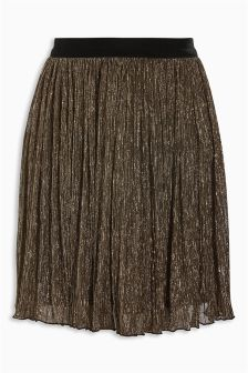 Lamé Pleated Skirt (3-16yrs)
