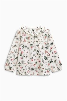 Print Frill Neck Top (3mths-6yrs)