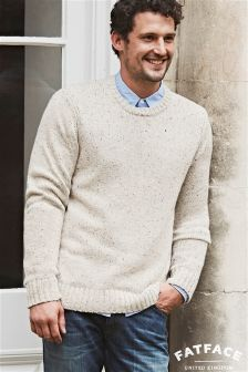 Fat Face Oatmeal Prestwick Crew Jumper