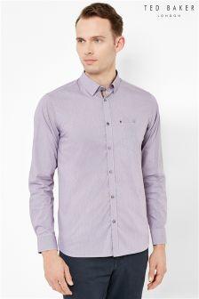 Ted Baker Lilac Pindot Shirt