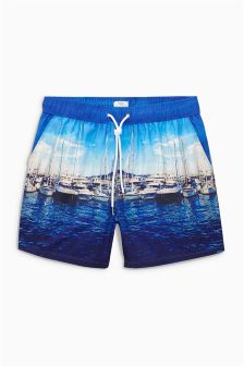 Boat Photographic Swim Shorts