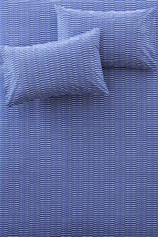 Blue Cotton Rich Tie Dye Fitted Sheet Set