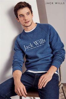 Jack Wills Blue Logo Crew Sweatshirt