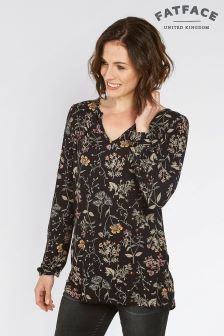 Fat Face True Black Ryleigh Wildflower Longline Top