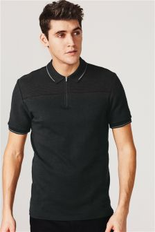 Textured Stripe Poloshirt